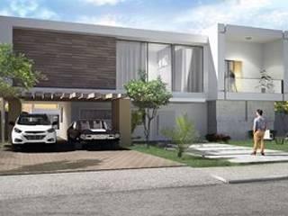 Maison en cube:  de style  par Ranque 3D Design  architecture interieur & D&R maîtrise d'oeuvre