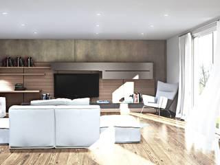 Création, implantation cuisine et salon maison Messimy (Lyon) par Ranque 3D Design architecture interieur & D&R maîtrise d'oeuvre
