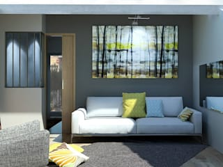 Rénovation d'un mazet de 50 m2 passé à 55m2:  de style  par Ranque 3D Design  architecture interieur & D&R maîtrise d'oeuvre