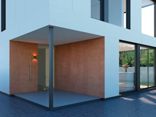 NUÑO ARQUITECTURA Modern houses Engineered Wood Wood effect