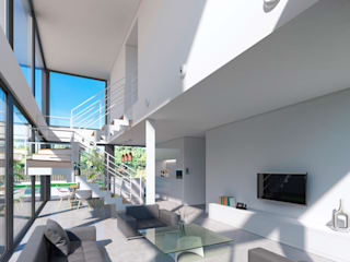 Living room by NUÑO ARQUITECTURA, Modern