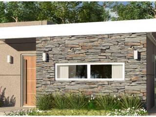 Vivienda Mixta Estandarizada ARQUIHOUSE Casas modernas: Ideas, imágenes y decoración Ladrillos