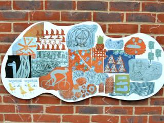 'Go with the Flow' School Playground Public Art:  Walls by Sam Haynes