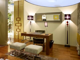 Susana Camelo Oficinas de estilo moderno Madera maciza Acabado en madera