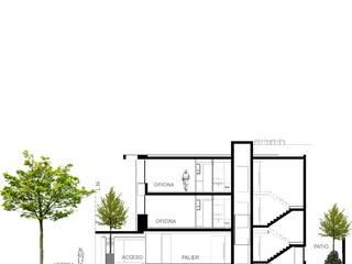 """EDIFICIO DE OFICINAS """"AMEGHINO 1885"""": Estudios y oficinas de estilo moderno por YANCARELLI - GOMEZ CODINA arquitectos"""