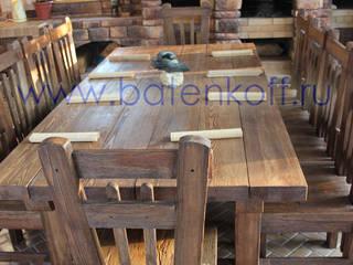 Фото Дизайн проект гостевого дома в стиле шале от Батенькофф Столовая комната в стиле кантри от homify Кантри Дерево Эффект древесины