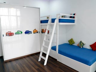 Mr.Reddy Residence Modern nursery/kids room by Uber space Modern