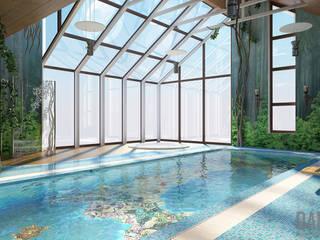 Бассейн. Зов джунглей. Бассейн в тропическом стиле от DADA-Design Тропический