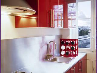 CUISINE IKEA/INOX: Cuisine de style  par Agence KP