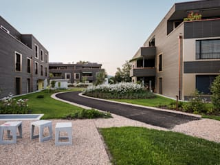 Giesser Architektur + Planung Jardines de estilo moderno Madera Ámbar/Dorado