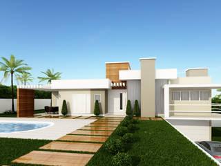 Construção Moderna Casas modernas por Karina Bettega Arquitetura Moderno