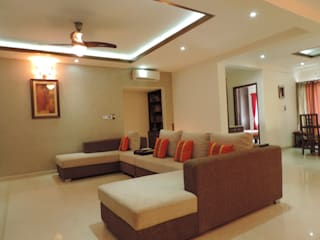 Flat Interior: modern Living room by Joby Joseph Interior