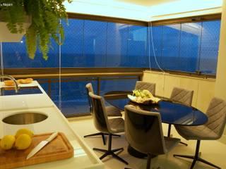 Varandas Varandas, alpendres e terraços modernos por Ju Nejaim Arquitetura Moderno