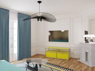 appartement familial Neuilly sur Seine: Salle de bains de style  par Agence KP