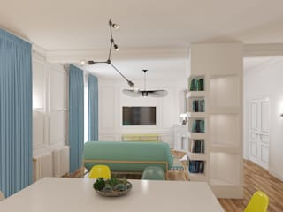 appartement familial Neuilly sur Seine: Salle à manger de style  par Agence KP