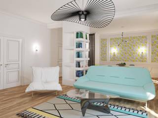 appartement familial Neuilly sur Seine: Salon de style  par Agence KP