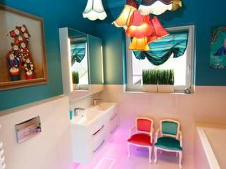lazienka dla dziewczynek ;-) livinghome wnętrza Katarzyna Sybilska Nowoczesna łazienka Kamień Turkusowy