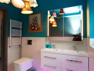 lazienka dla dziewczynek ;-) livinghome wnętrza Katarzyna Sybilska Nowoczesna łazienka Kamień Wielokolorowy