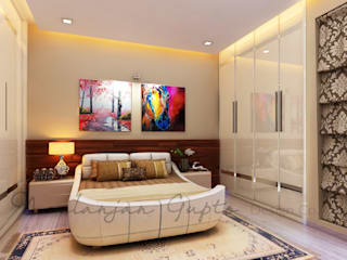 mom's bedroom:  Bedroom by Neelanjan Gupto Design Co