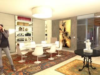 Living Room Sala da pranzo moderna di Planet G Moderno