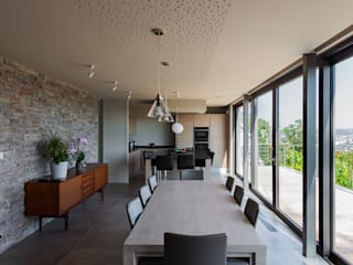 Transformation d'une habitation Salle à manger moderne par BURO 5 architectes et associés Moderne