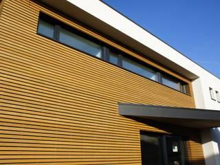Maison passive en ossature bois Maisons modernes par Bureau d'Architectes Desmedt Purnelle Moderne