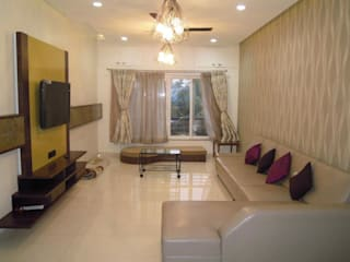 Punjabi's Residence.:  Living room by MAVERICK Architects,