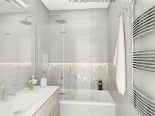 Mała jasna łazienka Nowoczesna łazienka od Inventive Interiors Nowoczesny