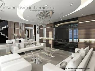 INVENTIVE INTERIORS - Dom z widokiem: styl , w kategorii Salon zaprojektowany przez Inventive Interiors