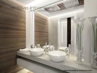 Piękne lustro w lazience: styl , w kategorii Łazienka zaprojektowany przez Inventive Interiors