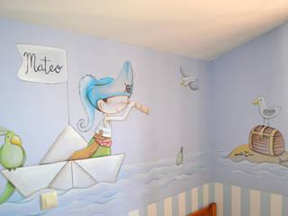 Murales infantiles Dormitorios infantiles de estilo ecléctico de DecoPared Ecléctico