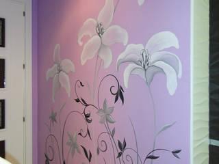 Murales pintados Oficinas y tiendas de estilo ecléctico de DecoPared Ecléctico