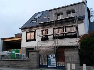 Rénovation thermique et extension maison P par BRIQUET & JACQUIS architectes