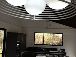 Casa Gualanday: Salas de estilo  por Andrés Hincapíe Arquitectos  A H A, Moderno