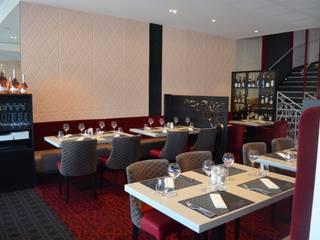 Refonte complète d'un restaurant à Mâcon (71) Gastronomie moderne par ATELIER JULIEN Moderne