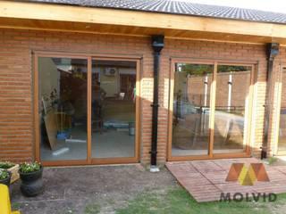 Obra Quincho Merlo Norte Fenêtres & Portes modernes par VETROLUX ABERTURAS Moderne