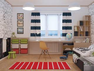 Визуализации Интерьера в скандинавском стиле Детская комнатa в скандинавском стиле от Alyona Musina Скандинавский