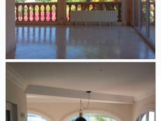 chalet en Javea torradoarquitectura Modern balcony, veranda & terrace