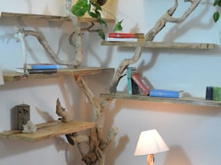 Livyng Ecodesign Living roomShelves Wood Wood effect