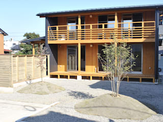 株式会社タマゴグミ Asian style houses Wood Wood effect