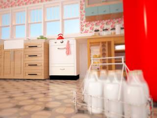 SIMPLE actitud Nhà bếp phong cách kinh điển gốm sứ Pink