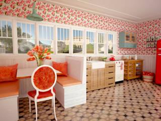 SIMPLE actitud Nhà bếp phong cách kinh điển gốm sứ