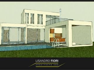 VIVIENDA UNIFAMILIAR: Casas de estilo  por Lisandro Fiori ARQUITECTO