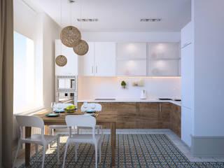 Cocinas de estilo  por Tatyana Pichugina Design
