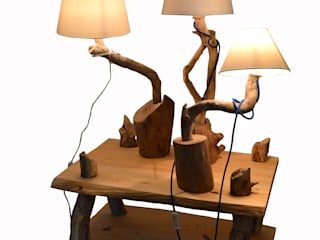 Livyng Ecodesign Living roomLighting Wood Wood effect