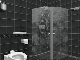 Scandinavian style bathrooms by A3D-Projection S.A.S. Scandinavian