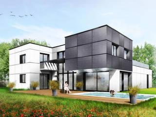 Maison Contemporaine Maisons modernes par SARA Architecture Moderne