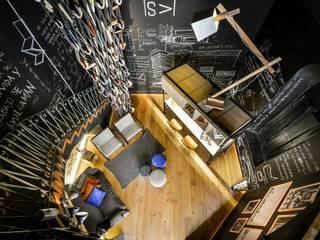 Projekty,  Salon zaprojektowane przez PSV Arquitectura y Diseño, Nowoczesny