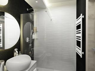 Płytki strukturalne w łazience Nowoczesna łazienka od Inventive Interiors Nowoczesny