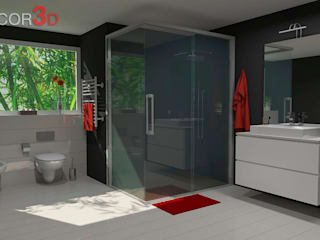 Modern Bathroom by Nuria Decor3D Modern